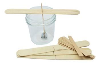 50x Knot drewniany do wosku stablizator gratis 8cm