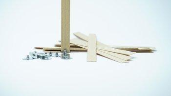 Knot drewniany do wosku stopki gratis 10 szt 15 cm