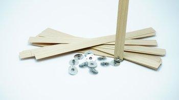 Knot drewniany do wosku stopki gratis 10 szt 20 cm