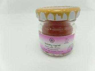 Świeca w słoiku z wosku pszczelego różany ogród 40 ml