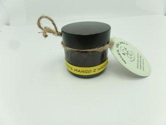 Świeca w słoiku z wosku pszczelego soczyste mango z wanilią 60 ml