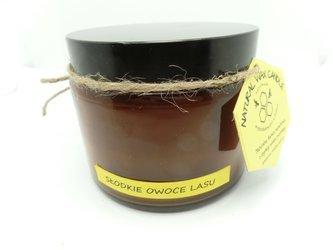Świeca w słoiku z wosku sojowego słodkie owoce lasu 500 ml