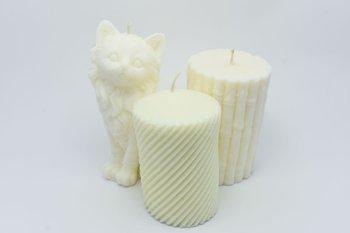Zestaw 3 świec wolno stojących z wosku sojowego