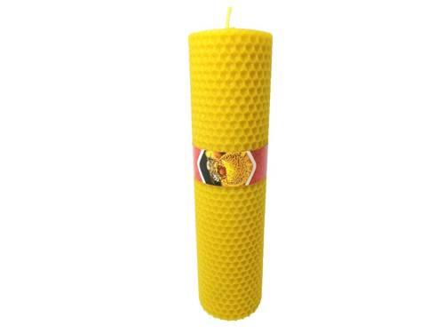 Ekologiczna świeca ręcznie zawijana z wosku pszczelego