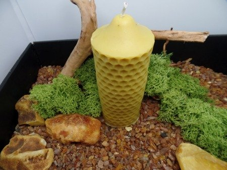 Ekologiczna trójwymiarowa świeca z wosku pszczelego  w kształcie WIEŻY