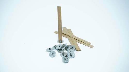 Knot drewniany do wosku stopki gratis 5 szt 8 cm