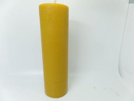 Naturalna świeca z wosku pszczelego wysoka słupek