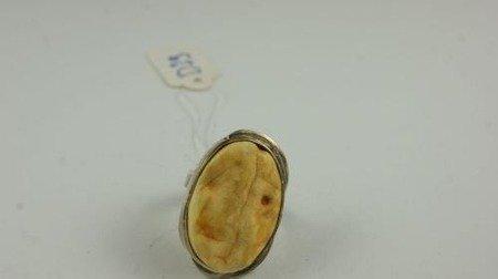 Pierścionek bursztyn bałtycki P68