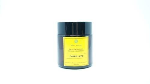 Świeca w słoiku z wosku pszczelego cafe late 120 ml