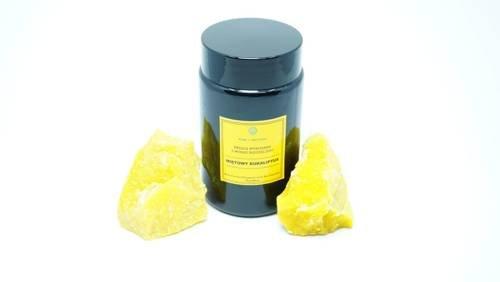 Świeca w słoiku z wosku pszczelego miętowy las eukaliptusowy 240 ml