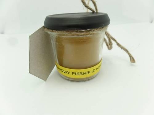 Świeca w słoiku z wosku pszczelego miodowy piernik z wanilią 120 ml