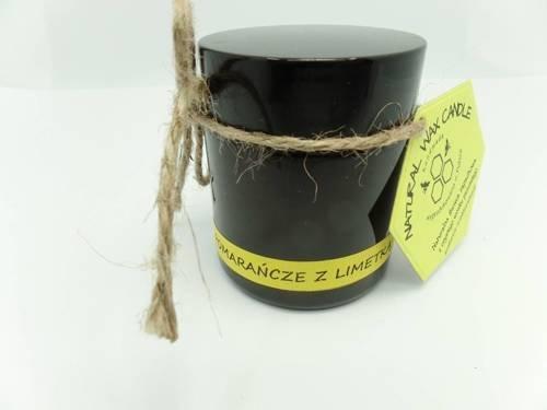Świeca w słoiku z wosku sojowego pomarańcze z limetką 120 ml