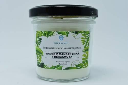 Świeca z wosku sojowego mango z mandarynką 120ml