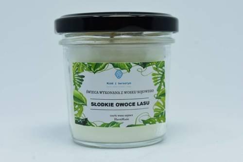 Świeca z wosku sojowego słodkie owoce lasu 120ml