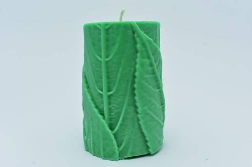 Świeca z wosku sojowego zielona wiosenny liść