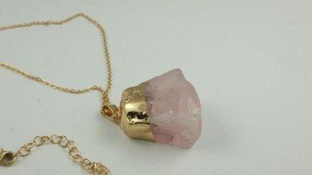 Wisiorek z różowym kamieniem  W114