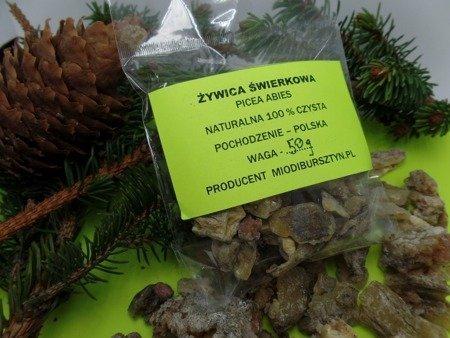 Żywica świerkowa naturalna zbierana ręcznie 100 g