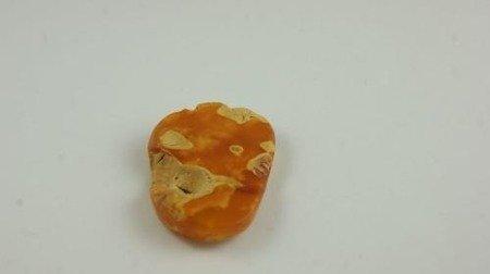 bursztyn bałtycki pomarańczowy polerowany surowiec