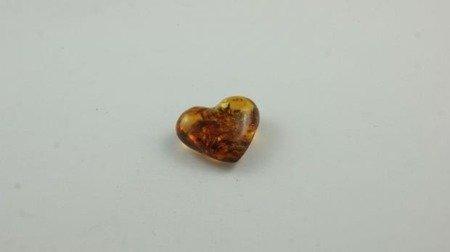 bursztyn bałtycki serce koniak łuskowany inkluzje 1,9 g