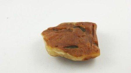 bursztyn bałtycki surowy płaski żółty naturalny 39,3 g