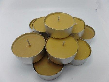 tealight z wosku pszczelego duży 30 szt.